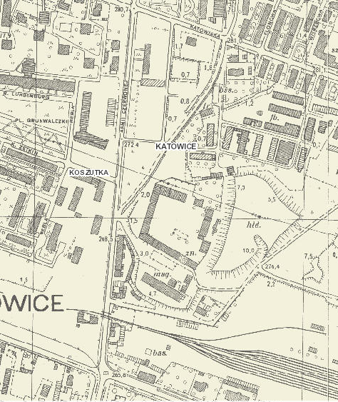 1958-61 map before Spodex was built
