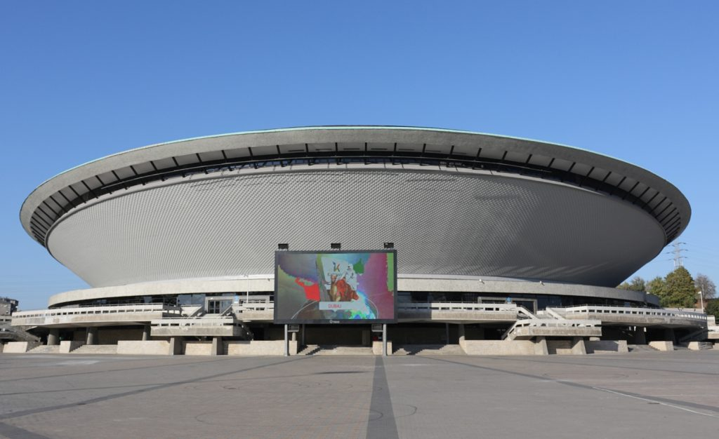 Spodek arena after facade renovation in 2011